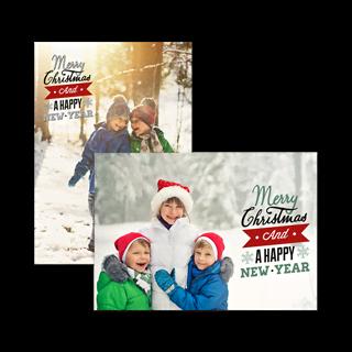 Kerstkaart Enkel A5 Liggend (per stuk) vooraf kopen