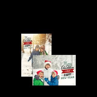 Kerstkaart Enkel A6 Liggend (per stuk) vooraf kopen