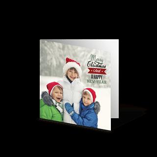 Kerstkaart Dubbel 10x10 Vierkant (per stuk) vooraf kopen