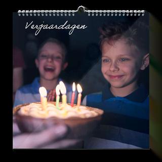 Verjaardagskalender 30x30 Vierkant vooraf kopen