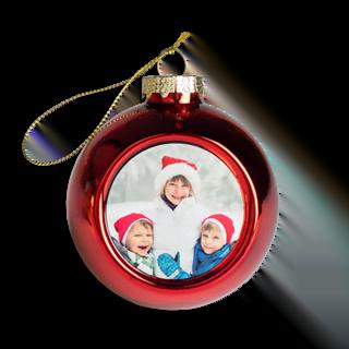 Kerstballen met bedrukbaar plaatje vooraf kopen