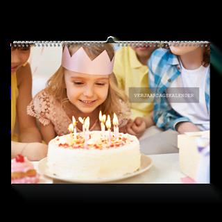 Verjaardagskalender A3 Liggend vooraf kopen