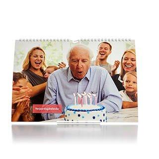 Verjaardagskalender A4 Liggend 360 foto